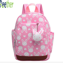 Reether Anti-lost Kids Backpack Cute School Bookbag For Children Safety Harness Backpack Baby Lunch Box Bag Leash Strap Bag(China)