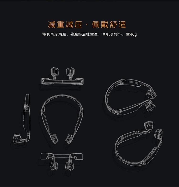 GS bone conduction Bluetooth headset sports titanium alloy outdoor rear hang headphones waterproof car headset Bluetooth