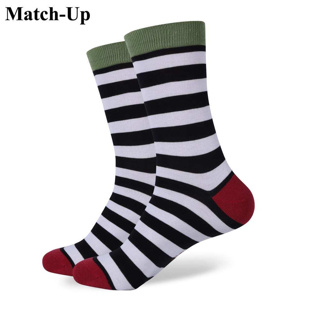 Underwear & Sleepwears Confident Match-up Mens Colorful Combed Cotton Socks Men Socks