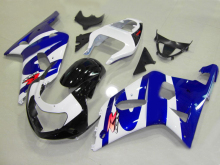 Injection mold Fairing kit for SUZUKI GSXR600 750 01 02 03 GSXR 600 GSX-R750 K1 2003 2001 2002 cool white blue Fairings set SM69
