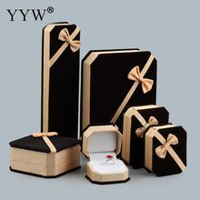 Fine Fashion Bowknot Velvet Jewelry Sets Box Bracelet Pendant Necklace Earrings Ring Boxes Packaging Display Jewelry Gift Box(China)