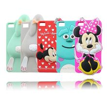 For BQ Aquaris M5 Cartoon Stitch Sulley Minnie Mouse Bunny Rabbit 3D Silicone Cell Phone Case Cover