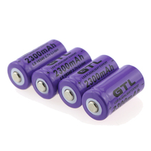 4pcs/lot GTL 3.7V 2300mAh 16340 CR123A Rechargeable Battery Lithium-ion Battery for The Flashlight(China)