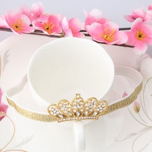 New 2016 Spring and Summer Children Headbands Girls Hair Accessories Baby Hair Band Alloy Rhinestone  Baby Crown Headband