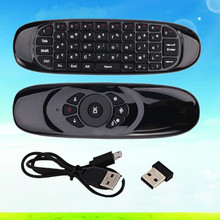 C120 Mini Wireless 2.4G RF Android TV Box Mini PC Airmouse Remote Control Flymouse Mini Keyboard USB Double Side QWERTY Keyboard