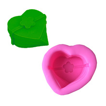 3D Silicone Soap Mold Heart Flower Cake Molds Kitchen Baking Fondant Chocolate Cake Sugarcraft Cake Decorating Tools MK1966