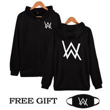 Hip Hop Streetwear Alan Walker DJ Hoodies High Quality Hooded Sweatshirt Men & Women Zipper Hoodie Casual Loose Brand Clothing(China)