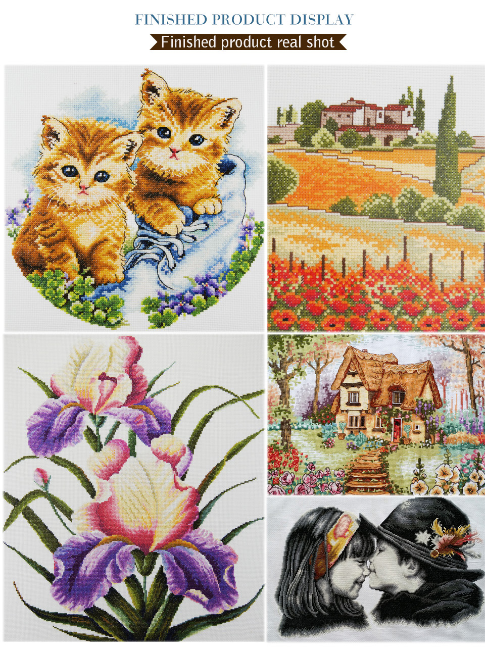 11CT 14CT Cloth Cross Stitch Kit Pope Character Series DIY Spiraling Needlework Manual Chinese Characteristic Embroidery (11)
