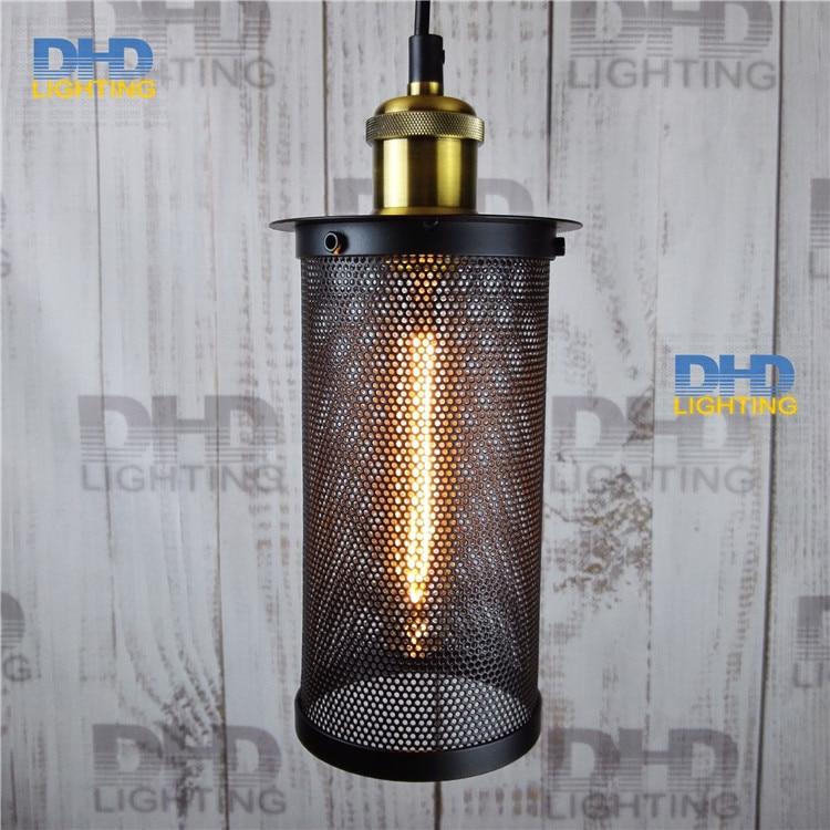 Indoor Retro Pendant Lights Industrial Loft Vintage Black cage Shade Metal Pendant lamps funnel abajur Edison laparas colgantes<br>