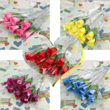 5 PCS a set lowest price! Single Stem Artificial Rose Silk Flowers Home Decor Flower Arrangment