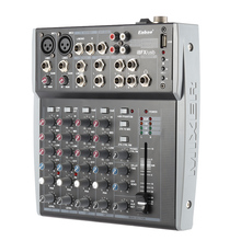 8 Channels 3-Band EQ Audio Music Mixer Mixing Console with USB XLR LINE Input 48V Phantom Power for Recording DJ Stage Karaoke(China)