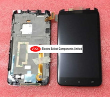 100% tested LCD Display + Touch Digitizer Screen glass for htc  One X G23 S720e with frame with logo 4.7 inch free shipping