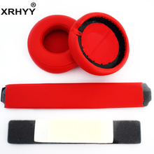 XRHYY Red Headphones Replacement Headband Ear Pad Earpads Cushion Set For Beats by Dr. Dre Pro Detox Headphones(China)