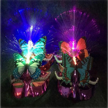 2017 Flashing Butterfly Mask Lighting LED Optical Fiber Masks For Girls Dress Up Party Halloween Costume Supplies Halloween