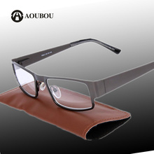 AOUBOU Brand Retro Reading Glasses Men 2.0 2.5 Anti-fatigue Stainless Steel Spring Hinges Frame Glasses Gafas De Lectura A110
