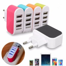 Universal 3.1A Triple USB US EU Plug 3 Ports Home Travel Wall AC Power Charger Adapters 5 Colors