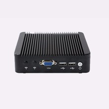 Server PC with Fanless 12v DC Power Supply Celeron quad core ubuntu Linux 1080p pc(China)