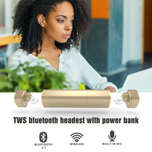Mini TWS K2 Twins Wireless Bluetooth V4.1 Stereo Headset Lipstick-Sized In-Ear Earphones Earbuds for iPhone Samsung IPad Smart
