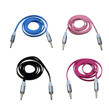 MAHA 3.5mm Car Jack M to M Extend Stereo Audio AUX Cable Cord Blue/Pink/Black/Rose red/White/Green(China)