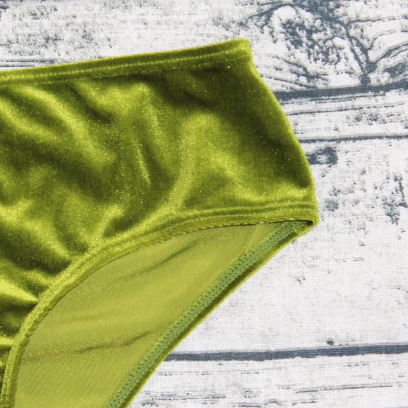 Sexy Brazilian Bikini 17 Blue Velvet Swimwear Women Swimsuit Push up Biquini Halter Bikinis Set Bathing Suit Maillot De Bain 26