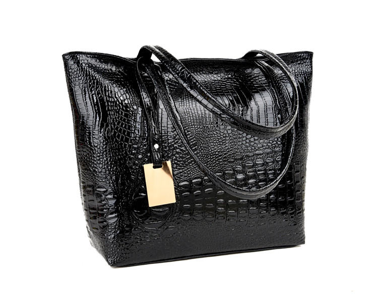Brand Fashion Casual Women Shoulder Bags Silver Gold Black Crocodile Handbag PU Leather Female Big Tote Bag Ladies Hand Bags Sac 13