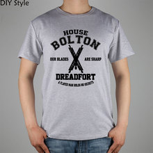 Buy game thrones house bolton dreadfort OUR BLADES ARE SHARP T-shirt Top Lycra Cotton Men T shirt New for $9.52 in AliExpress store