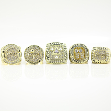 Replica 2016 Los Angeles Lakers Bryant Ring Set 2000/2001/2002/2009/2010 Replica Championship Ring Size 11(China)