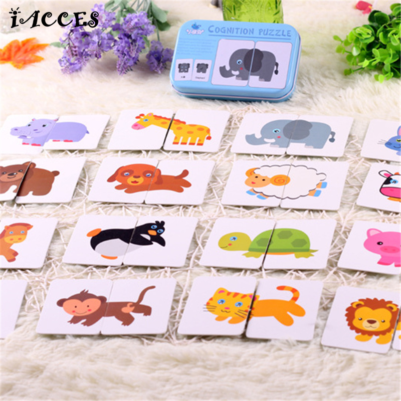 New Arrival Baby Toys Puzzle Infant Early Training Cognitive Card Vehicl fruit Vegetable Animal Life Set Pair Jigsaw Toy gifts(China (Mainland))