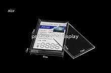 Clear Acrylic Sign Holder  Price Tag Holder Stand  Phone Advertising Stand For Samsung Phone Store