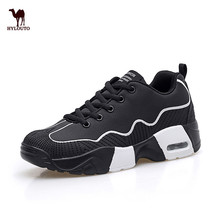 Autumn Comfortable Walking Shoes Women Air Cushion Outdoor Sport Shoe Breathable Sneaker White/black/pink 35-40 Retail Wholesale