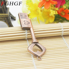 FGHGF usb flash drive pendrive Metal Pure Copper Heart Key Gift USB Flash Drive mini USB stick pendriver 4gb 8gb 16gb 32gb