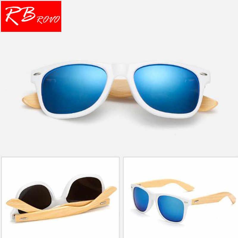 88f1ddf3458 RBROVO 2018 Vintage Bamboo Frame sunglasses Women Brand Designer Classic  Metal Sun Glasses Outdoor Wooden Legs