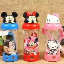 Cute Eco-friendly PP Kid Bickiepegs baby cartoon water bottle children Straw Bottle Children kettle sports bottle