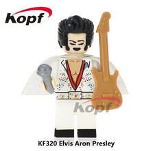 Single Sale Super Heroes Elvis Aron Presley Donald John Trump Michael Jackson Bricks Building Blocks Toys for children KF320