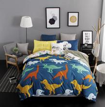 Colorful Soft Dinosaur Panda Zebra Pattern Bedding Set 4 pieces/ 3 pieces High Quality Bedding Cover Home Room Decoration(China)