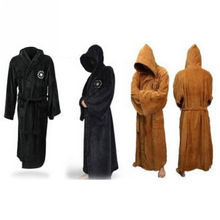 2016 Hot Star Wars Imperial Jedi/Sith Logo Fleece Hooded Bath Robe Bathrobe Cloak Mantle sleepwear Robe for Men  Cosplay Costume