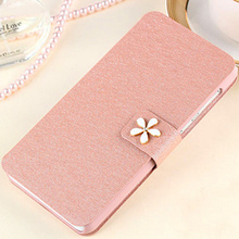 Protective Phone Case For Alcatel One Touch Pop C5 5036 5036D Cove leather cell phone pouches wholesale Stand Card Slots Wallet