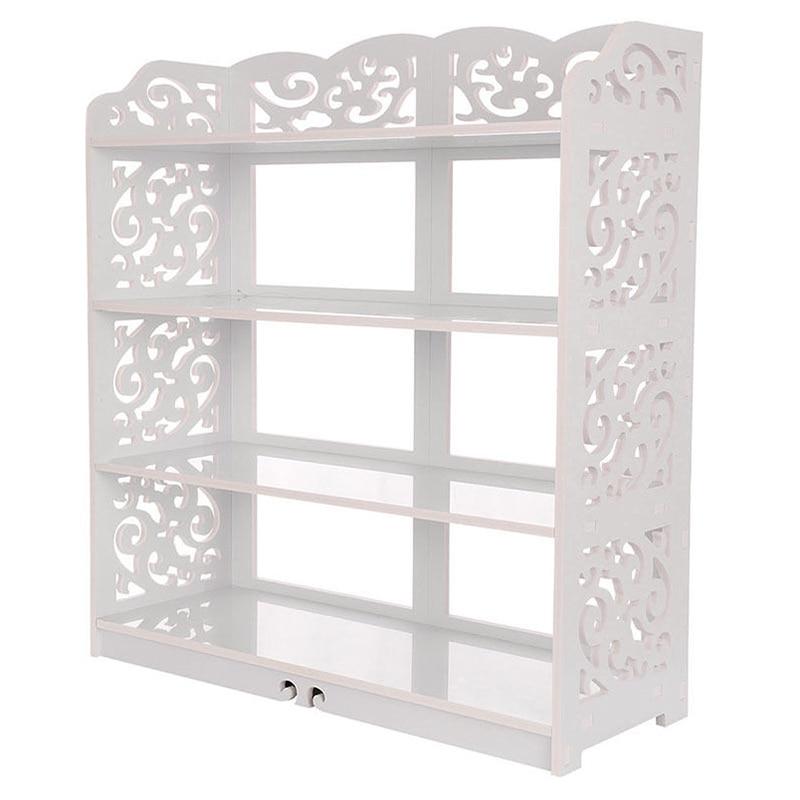 Best 4 Tier Display Shoes Storage Organizer Rack Stand Shelf Holder Unit Shelves (60cm wide) white<br>