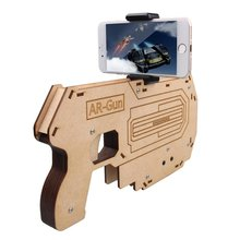 AR Attack Assembled Augmented Reality AR Toy Gun Bluetooth AR-Gun for 3D VR Games Game Pad Suit for IPhone 5S/6S/7 Tattoo ink(China)