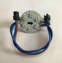 DC12V WS2811 digital module,non-waterproof;6LEDs/1.44W;38mm diameter;with 3pin male and female connectors at ends(China)