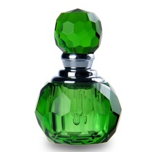 Hot Sale Crystal Cut 1ml Green Refillable Empty Perfume Glass Bottle Mini Scnt Pump