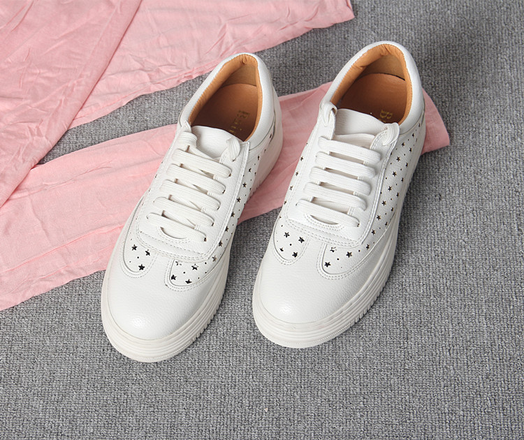 17 Women White Shoes Autumn Winter Soft Comfortable Casual Shoes Flats Platform Sneakers Real Leather Shoes Sapato Feminino 16