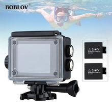 "BOBLOV 2.0"" LCD 16MP HD WiFi Sports Helmet Action Camera Video Camcorder HDMI Waterproof with 2 x 1000mAh Battery"