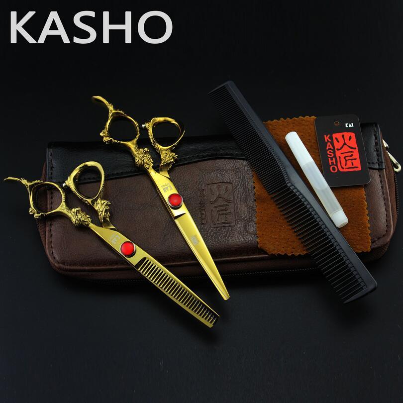 High Quality Kasho Scissors Professional hair scissors 6.0inch hairdressing scissors tijeras de peluqueria berber makas<br>