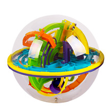 3D Magic Intellect Ball Marble Puzzle Game perplexus magnetic balls IQ Balance toy Educational classic toys Maze Ball 18*18*19.5(China)