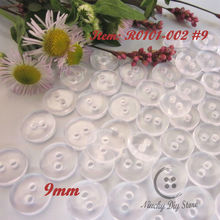 "Sewing products 500pcs 9mm (11/32"") transparent bread resin buttons for baby clothing pad  buttons sewing accessoires wholesale"