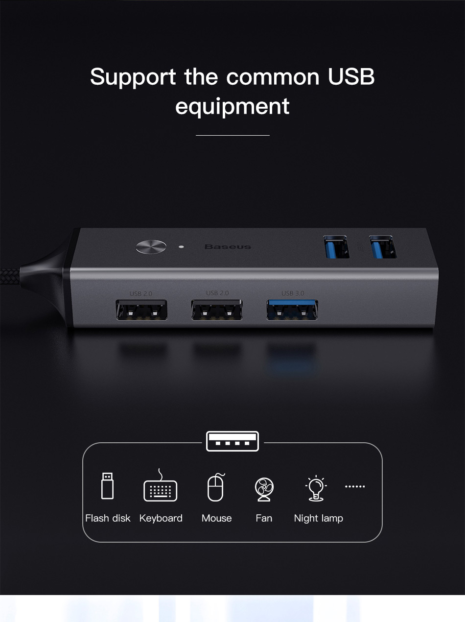 Baseus 5 Ports USB C HUB to USB 3.0 OTG USB HUB Splitter High Speed 5Gbps For Macbook Computer Laptop Type C HUB USB 2.0 Adapter 7