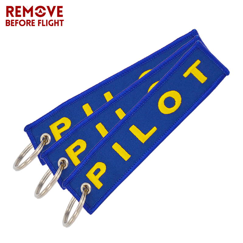 Remove Before Flight Pilot Key Chain OEM Key Chains Jewelry Embroidery Safety Tag Aviation Gifts Special Blue Pilot Luggage Tags2
