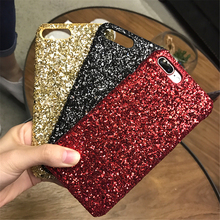 Buy Sequins Glitter Bling Phone Cases iphone 7 Case iPhone 6 6S 7 8 Plus Case Luxury Glitter Diamond PC Back Cover Fundas for $4.28 in AliExpress store