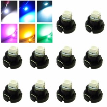10x T3 blue White Iceblue 3528 smd Car Cluster Gauges Dashboard White Blue Red Green Yellow instruments panel Light bulbs